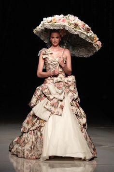 robe de marie imprime fleurs colore de dian stuart - Parapluie Mariage Tati