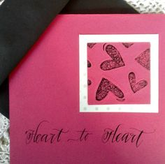 Handmade Original Greeting Card with  Hand by JenniferCarolThomas