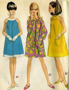 Vintage 1960s McCalls 8706 UNCUT Misses Round Yoke by RomasMaison