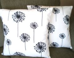 Black White Throw Pillow Covers Cushion Covers Couch Pillows Decorative Pillow Dandelion, Bed Euro Sham, Throw Pillow, One or More All Sizes