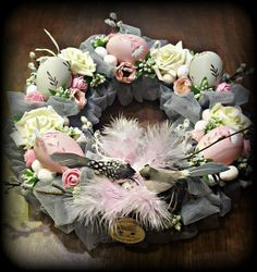 Wielkanoc w różu Easter Wreaths, Holiday Wreaths, Flower Decorations, Christmas Decorations, Funny Easter Bunny, Easter Flowers, Easter Holidays, Arte Floral, Easter Crafts