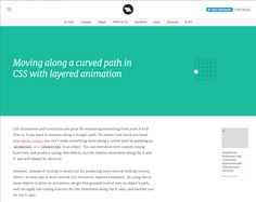 Moving along a curved path in CSS with layered animation