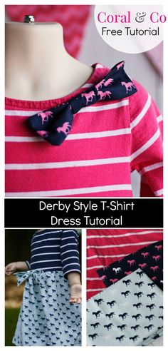 DIY Derby style Horse dress sewing pattern and tutorial How to sew a horse knit dress derby style fabric