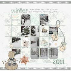 Its Cold Outside, Layouts, Studios, Photo Wall, Cozy, Templates, Frame, Winter, Design