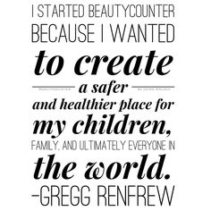 I'm so thankful that @greggrenfrew started an amazing company that's out to change the way we look at beauty. What an inspiration! Her 'why' for starting is my 'why' for joining and I couldn't agree with her more. Who do you want to create a safer and healthier place for?