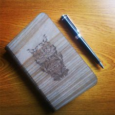 #pen #book #notebook #bookcover #owl #woodnotebook #hingewood #gift #giftideas #souvenir #producer #laser #lasercutting #lebois #leboisvn #saigon #hochiminhcity by lebois.com.vn