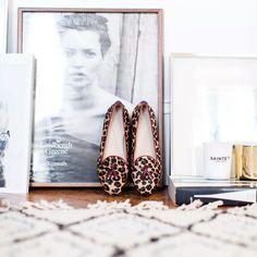 Slippers Zephir imprimé leopard plat ballerine personnalisable - Chatelles