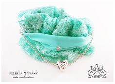 Polsiera Tiffany confezionata a mano  con inserito braccialetto e ciondolo cuore (rimovibile).---------- Tiffany Cuff  hand-made  Supplied with bracelet and heart pendant (removable)