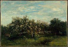 Charles-François Daubigny   Apple Blossoms   1873