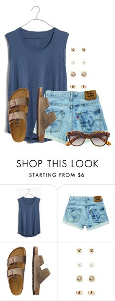 """""""Tanks"""" by flroasburn ❤ liked on Polyvore featuring Madewell, TravelSmith, Forever 21 and H&M"""