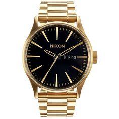 Nixon Sentry SS Men's Watch | Gold / Black