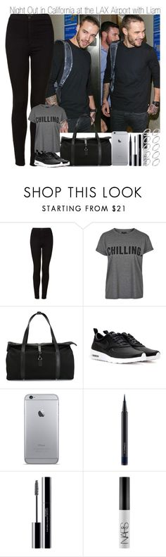 """""""Night Out in California at the LAX Airport with Liam"""" by elise-22 ❤ liked on Polyvore featuring Topshop, Mismo, NIKE, MAC Cosmetics, shu uemura, NARS Cosmetics and ASOS"""