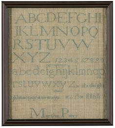 Martha Parry - Westtown School, Chester County, Pennsylvania - 1808. One of three samplers. Lot sold for 6,875 USD