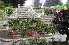 Miniature cottage - model of Bourton-on-the-Water