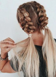 easy braided hairstyles for long hair frisuren frauen frisuren männer hair hair styles hair women Fishtail Braid Hairstyles, Braided Hairstyles For Wedding, Braided Hairstyles Tutorials, Undercut Hairstyles, Natural Hairstyles, Hairstyle Ideas, Hairstyles 2018, Workout Hairstyles, Black Hairstyles