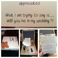 Bridesmaid boxes