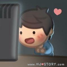 When I read your text ^_^ Cute Love Gif, Love Is Sweet, Love Her, Hj Story, Cute Love Stories, Love Story, Chibi Cat, Cute Romance, Couple Relationship