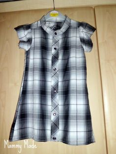 Mammy Made: Men's shirt to toddler dress refashion
