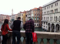 My moth and son in Venice