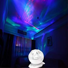 SOAIY Color Changing Aurora Projection Led Night Light Lamp with Speaker, Relaxing Light Show for Kids and Adults, Decorative Mood Light, Baby Nursery Kids Bedroom Living Room Night Light (Black) Night Light Projector, Projector Lamp, Led Night Light, Night Lights, Projector Ideas, Space Themed Nursery, Nursery Themes, Nursery Ideas, Mood Light