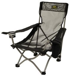 ALPS Mountaineering Getaway Chair - this one has a drink holder, higher arms, and sits a bit higher than the ALPS camp chair