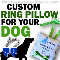 ►► CUSTOM RING BEARER PILLOWS FOR DOGS ►► Jewelry Secrets