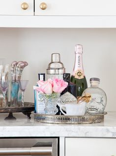 #bar, #tray  Photography: Ashley Capp - ashleycapp.com Photography: Ashley Capp - www.ashleycapp.com  Read More: http://www.stylemepretty.com/living/2014/02/13/behind-the-blog-with-bijou-boheme/