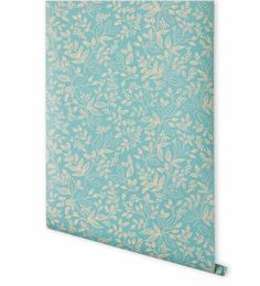 The Queen Anne Robin's Egg wallpaper features intricate taupe florals printed on Robin's egg blue paper. Ships directly from Hygge & West. We're thrilled to debut our first wallpaper collection. We decided to partner with Hygge & West due to their reputation for high-quality printing and papers. Every pattern is screen printed in Chicago on coated, durable, and fade-resistant paper with a technique that gives a hand-painted look.