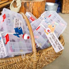 Fishing Party Favor Tags - Fishing Party Thank-You Tags