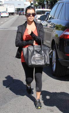 Kourtney Kardashian spotted in the Dita Century.