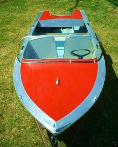 1950's Wagemaker Aluminum Runabout Boat Michigan Fresh Water Marine Restored...it was actually selected by WoodyBoaters.com as Woody Boater of the week that year--even though it is Aluminum!