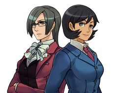 Miss Attorneys by ROSEL-D------ Phoenix Wright and miles edgeworth gender bender
