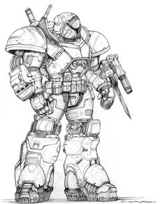 RIFTS NG Protege Power Armor by ChuckWalton on DeviantArt
