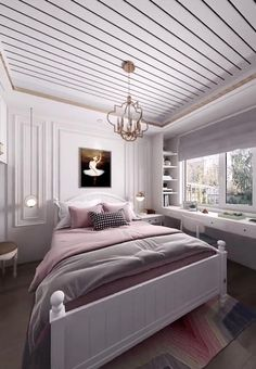 Very Small Bedroom, Small Bedroom Interior, Bedroom Decor For Small Rooms, Bedroom Bed Design, Bedroom Furniture Design, Modern Bedroom Design, Home Room Design, Room Decor Bedroom, Small Bedroom Layouts