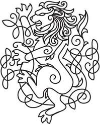 Celtic lion pattern by urbanthreads.com