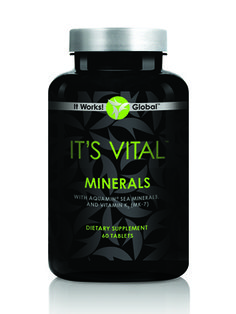 It's Vital™ Minerals     Keep those bones strong, your heart healthy, and your body nourished with It's Vital Minerals. Powered by sea-algae derived Aquamin® premium mineral blend, It's Vital Minerals helps your body maximize calcium absorption through a superior combination of 250% of the RDA of Vitamin D and Vitamins K1 and K2 (MK-7), ensuring calcium stays in your bones and boosting support for your cardiovascular health. Loyal Customer Price: $23