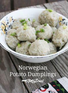 Norwegian potato dumplings (potato klub). A historic recipe.