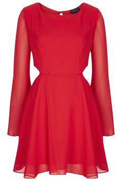 Cutout Angel Sleeve Dress - Dresses - Clothing - Topshop USA
