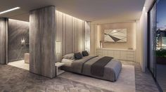 Elegant Grey bedroom | Project Fitzroy by 1508 London, United Kingdom | Post Office Apartment on Architizer