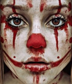 Trauma by Cristina Otero #clown #portrait #sad