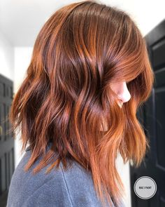 Fantastic Copper Red Hair Color Shades You Must Try in 2019 Searching for best hair colors to make y Red Copper Hair Color, Gold Hair Colors, Cool Hair Color, Copper Rose Gold Hair, Balayage Hair, Ombre Hair, Brown Balayage, Hair Blond, Long Bob Haircuts
