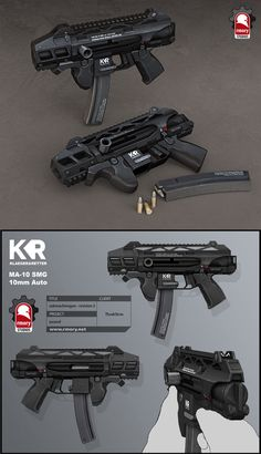 Ascend SMG, Kris Thaler on ArtStation at https://www.artstation.com/artwork/dXErX Sci Fi Weapons, Weapons Guns, Fantasy Weapons, Guns And Ammo, Weapon Concept Art, Future Weapons, Submachine Gun, Custom Guns, Cool Guns