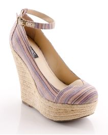 Casual Chic Wedge - Woven Stripe Fabric.