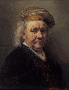 Rembrandt van Rijn, (1606-1669), Self-Portrait, 1669. Royal Picture Gallery Mauritshuis The Hague.