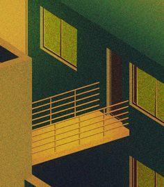 Du bruit urbain dans ces illustrations nocturnes - Lili Des Bellons