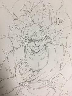 Goku Drawing, Ball Drawing, Manga Drawing, Dragon Ball Z, Super Manga, Goku Manga, Dbz Drawings, Anime Boy Sketch, Estilo Anime
