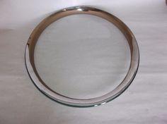 """Annieglass Roman Antique Platinum 12"""" Buffet Plate, signed, 1999, VGUC, #6 #Modern"""