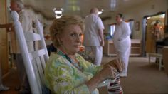 Maw Maw knits on Raising Hope. She later threatens to use her needle in an act of violence at the nursing home.