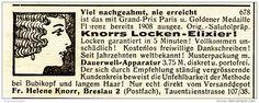 Original-Werbung/ Anzeige 1928 - LOCKEN-ELIXIER / KNORR - BRESLAU - ca. 75 x 30 mm