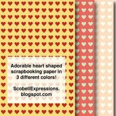 Free Heart Scrapbook paper